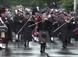 Pipe Bands Marching in NZ, 2017